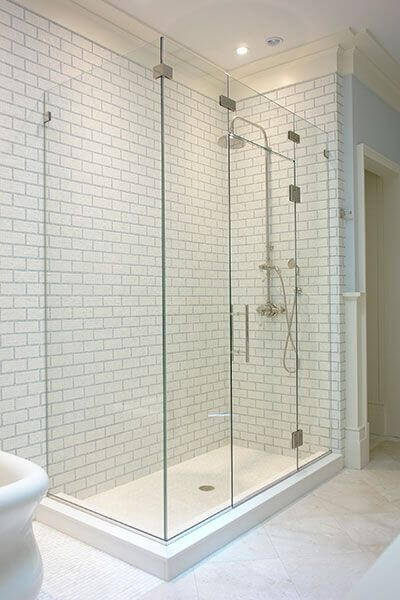 Corner Showers Doors Enclosure With Center Door 2 400x300