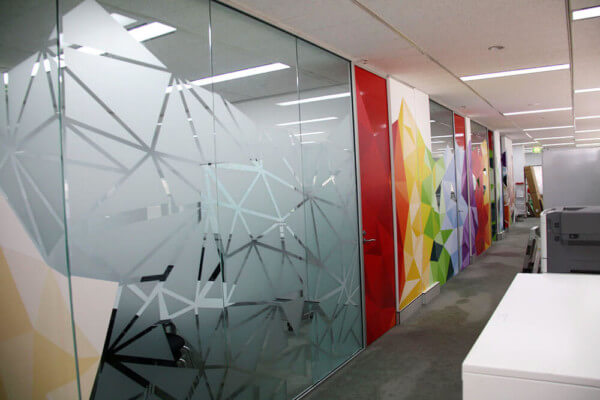 Custom Window Film For The Office Frosted Design 600x400
